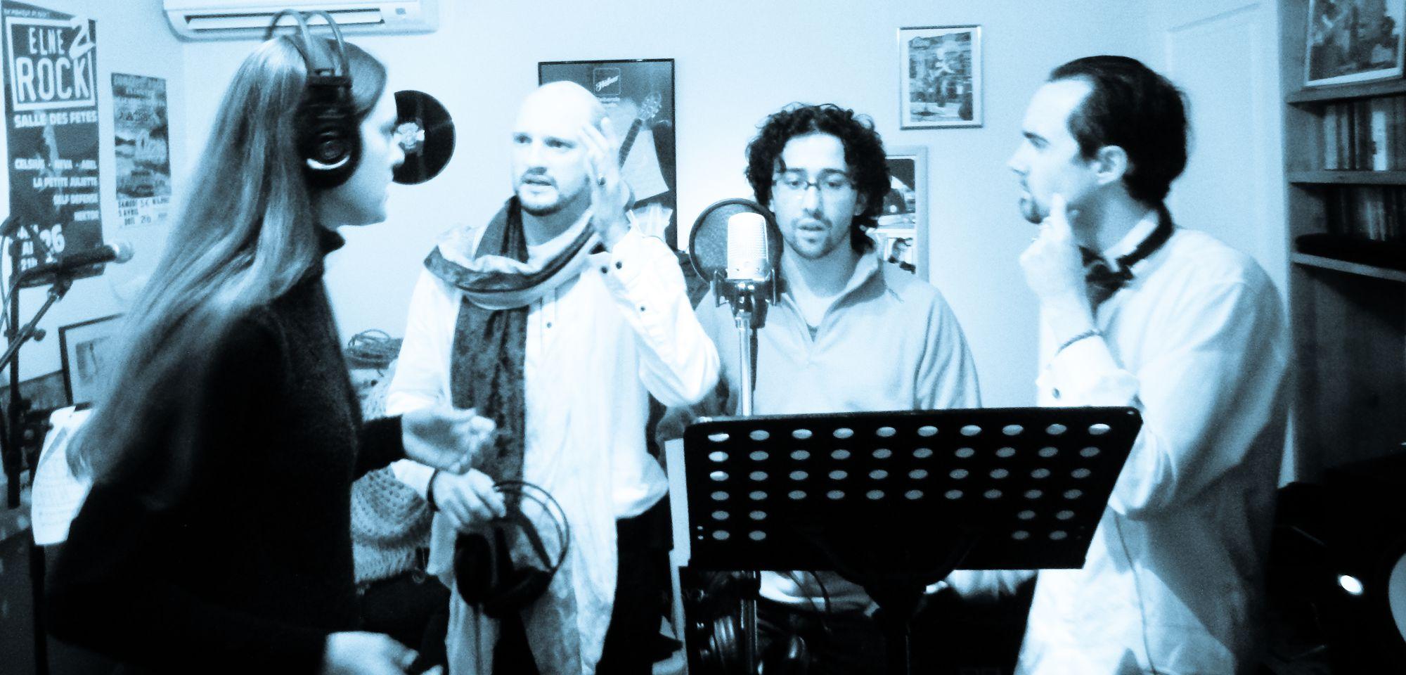 Zara Angel with the 3 tenors
